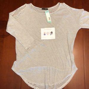 Stitchfix Papermoon Aubrey cold shoulder knit top